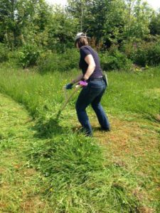 scything beginners course at Skygrove
