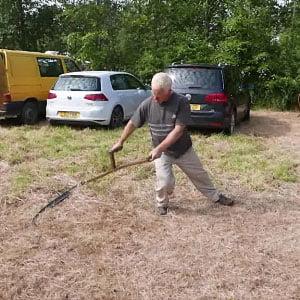 scything demo at Keveral