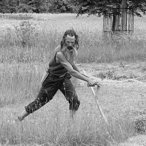 Phil at Wimpole Scything Cometition