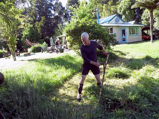 Kevin - Scything - New Zealand